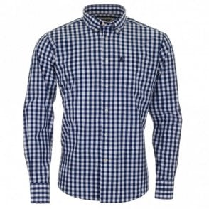Auton Long Shirt - Blue Check