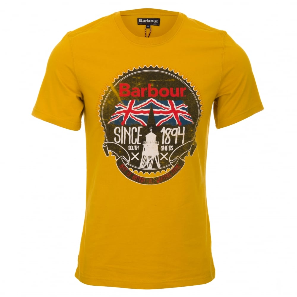 barbour beach bungalow t shirt mustard gold. Black Bedroom Furniture Sets. Home Design Ideas