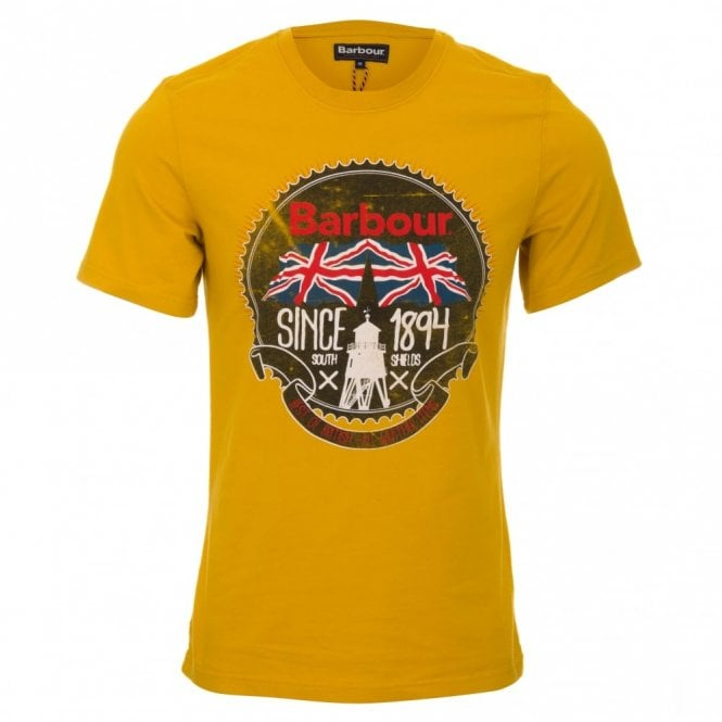 Barbour Beach Bungalow T-Shirt - Mustard Gold