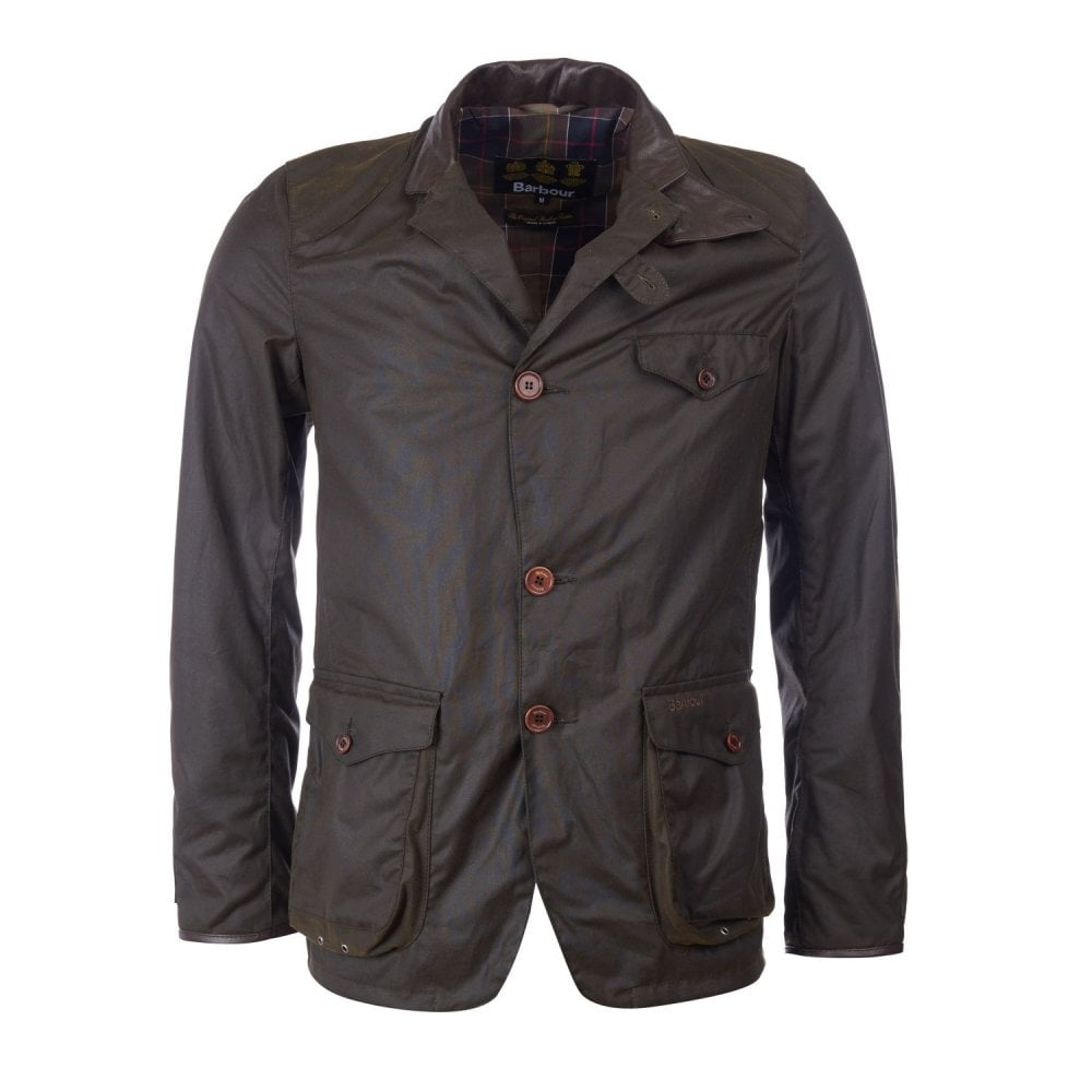 Barbour Beacon Sports Wax Jacket Olive Green Mwx0007ol71