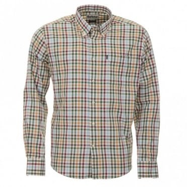 Bibury Tailored Fit Shirt - Green Check