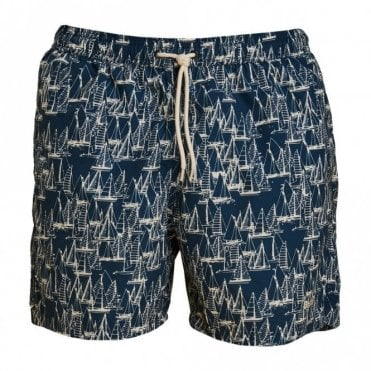 Boat Swim Shorts - Navy