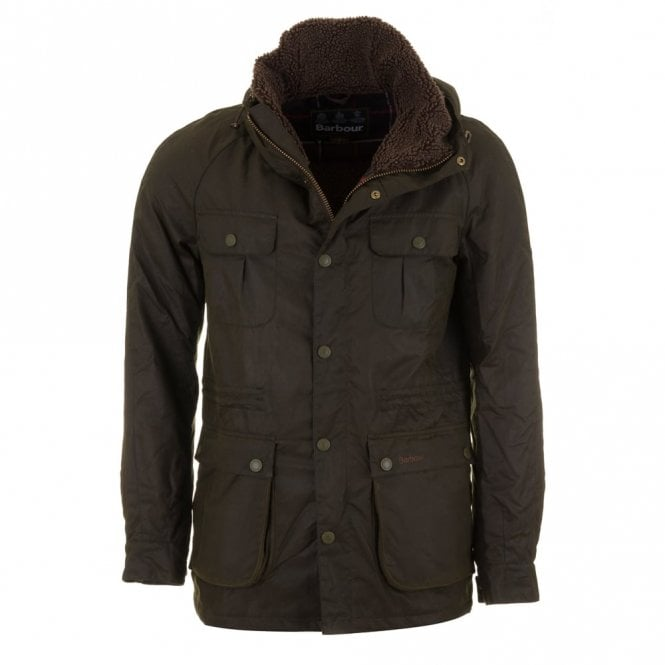 Barbour Brindle Wax Jacket - Fern Green
