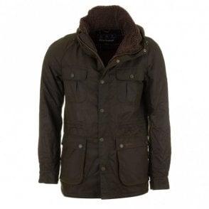 Brindle Wax Jacket - Fern Green