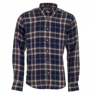 Calvert Linen Shirt - Navy Check
