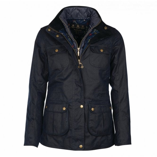 Barbour Chaffinch Wax Jacket Navy - Navy