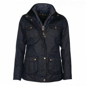 Chaffinch Wax Jacket Navy - Navy