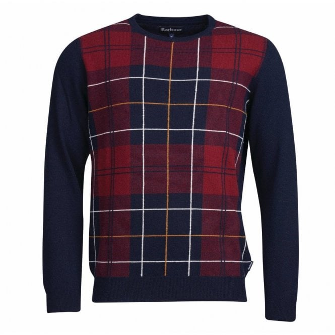 Barbour Coldwater Crew Neck Sweater Navy - Navy