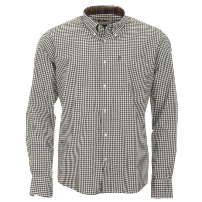 Barbour Country Gingham Tailored Fit Shirt - Green Check