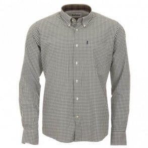 Country Gingham Tailored Fit Shirt - Green Check