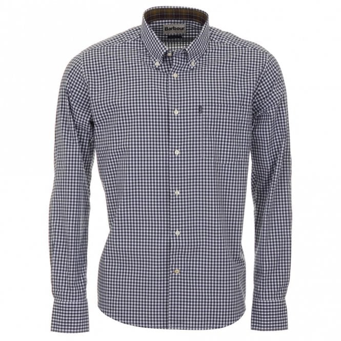 Barbour Country Gingham Tailored Fit Shirt - Navy Check