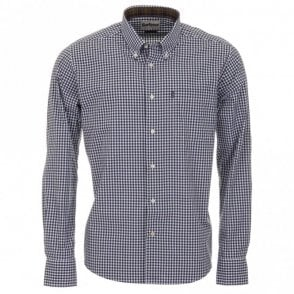 Country Gingham Tailored Fit Shirt - Navy Check