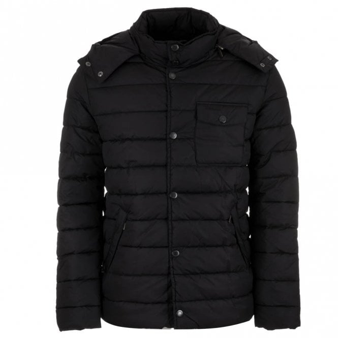 Barbour Cowl Quilt Jacket - Navy