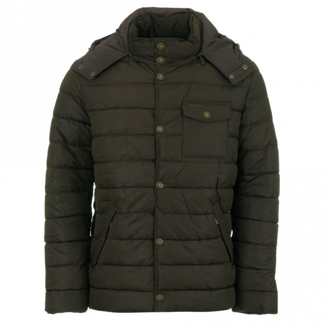 Barbour Cowl Quilted Jacket - Olive Green