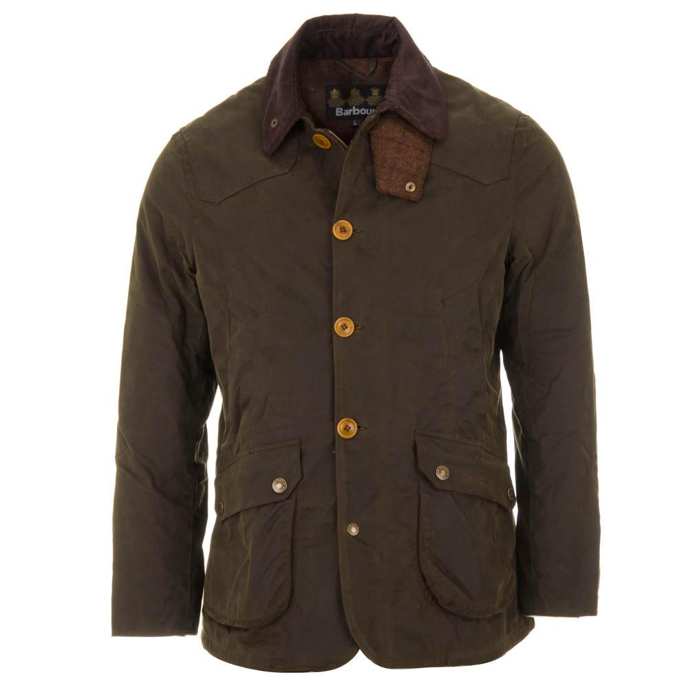 Barbour Cullen Wax Jacket Olive Green