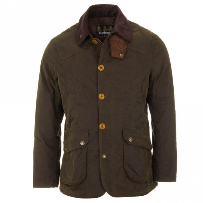 Barbour Cullen Wax Jacket Olive Green