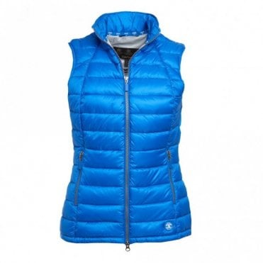 Deerness Gilet Women's - Victoria Blue & Ice White