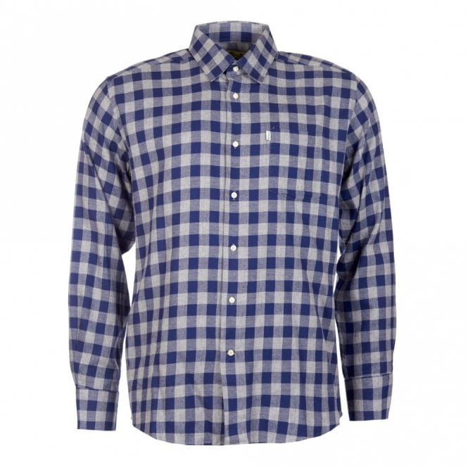 Barbour Greystoke Check Shirt - Navy