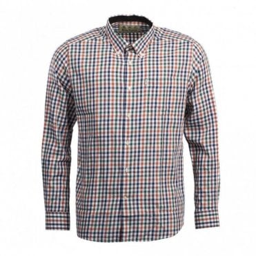 Harlaw Wool Mix Shirt Rustic - Green Check