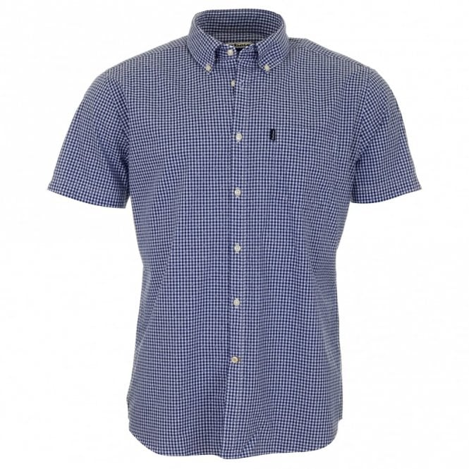 Barbour Hector Tailored Fit Short Sleeve Shirt - Navy Check