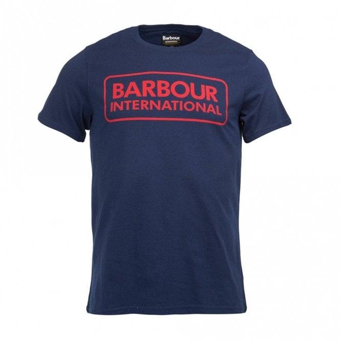 Barbour International Essential Large Logo T-shirt New Navy - Navy