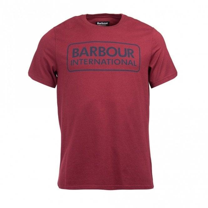 Barbour International Essential Large Logo T-shirt Port - Burgundy
