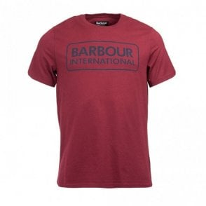 Essential Large Logo T-shirt Port - Burgundy
