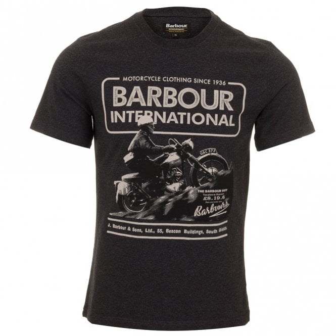 Barbour International Hill Climb Tee - Charcoal