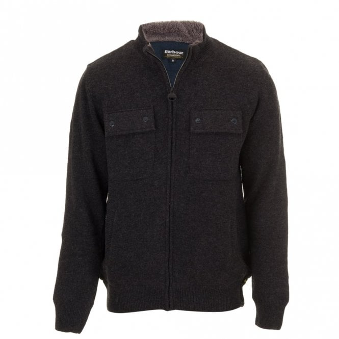 Barbour International Lateral Zip sweater - Grey