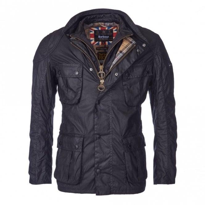 Barbour International Men's Gauge Wax Jacket - Black