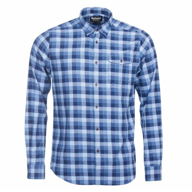 Barbour International Men's Grill Shirt - Chambray Blue Check