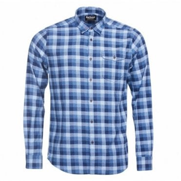 Men's Grill Shirt - Chambray Blue Check