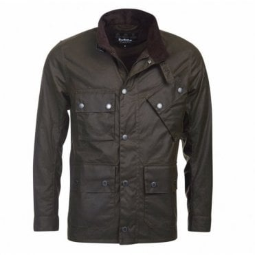 Men's Tyne Wax Jacket - Olive Green