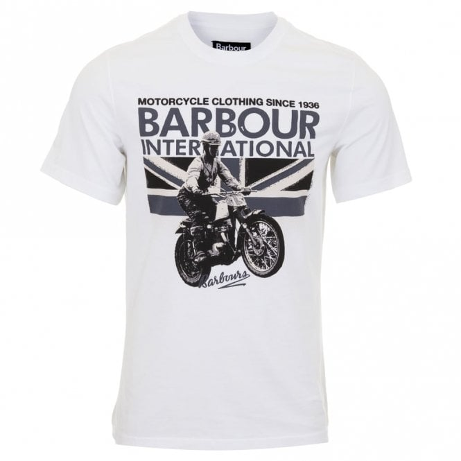 Barbour International Rider Tee-white White