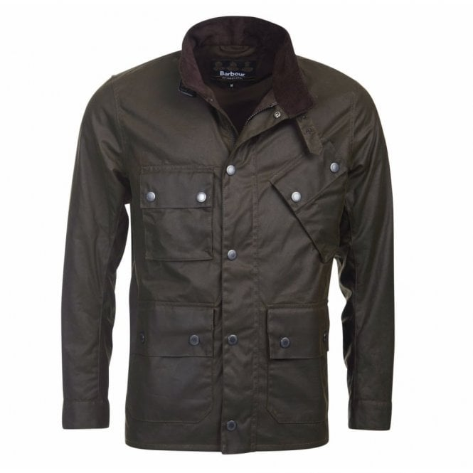 Barbour International Tyne Wax Jacket - Olive Green