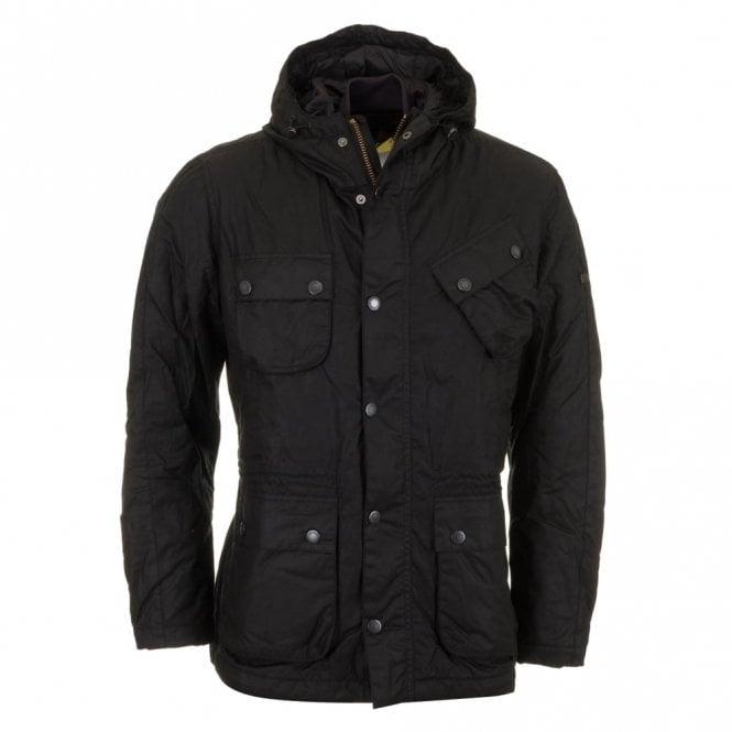 Barbour International V Tech Wax Jacket - Black