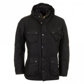 V Tech Wax Jacket - Black