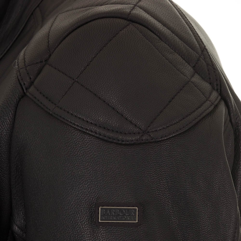Barbour international jacket leather