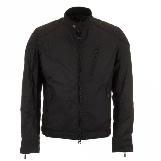 Barbour International Winter Sprocket Wax Jacket - Black