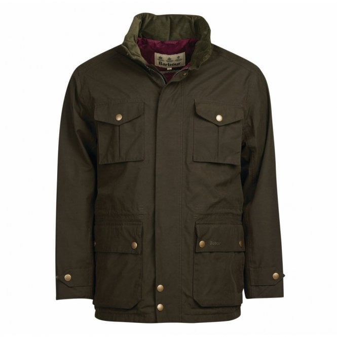 Barbour Kelso Jacket Dark Olive - Green