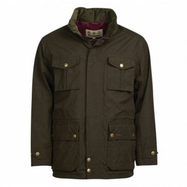 Kelso Jacket Dark Olive - Green