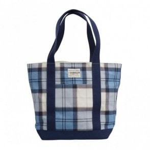 Kirkaldy Bag Fade Blue Tartan - Blue