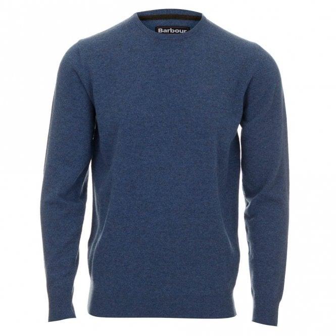 Barbour Lambswool Crew Neck Sweater - Blue