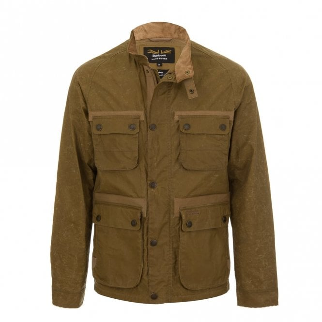Barbour Land Rover Men's Land Rover Hirta Wax Jacket - Sand