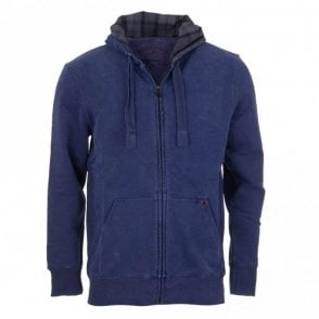 Laundered Hoodie Sweatshirt - Blue