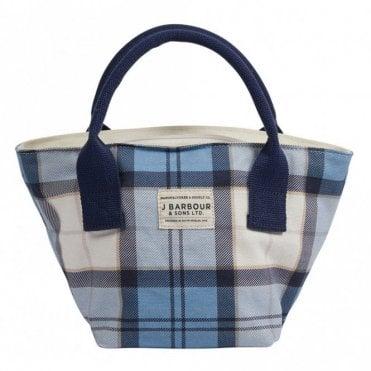 Leathen Tote Bag - Blue