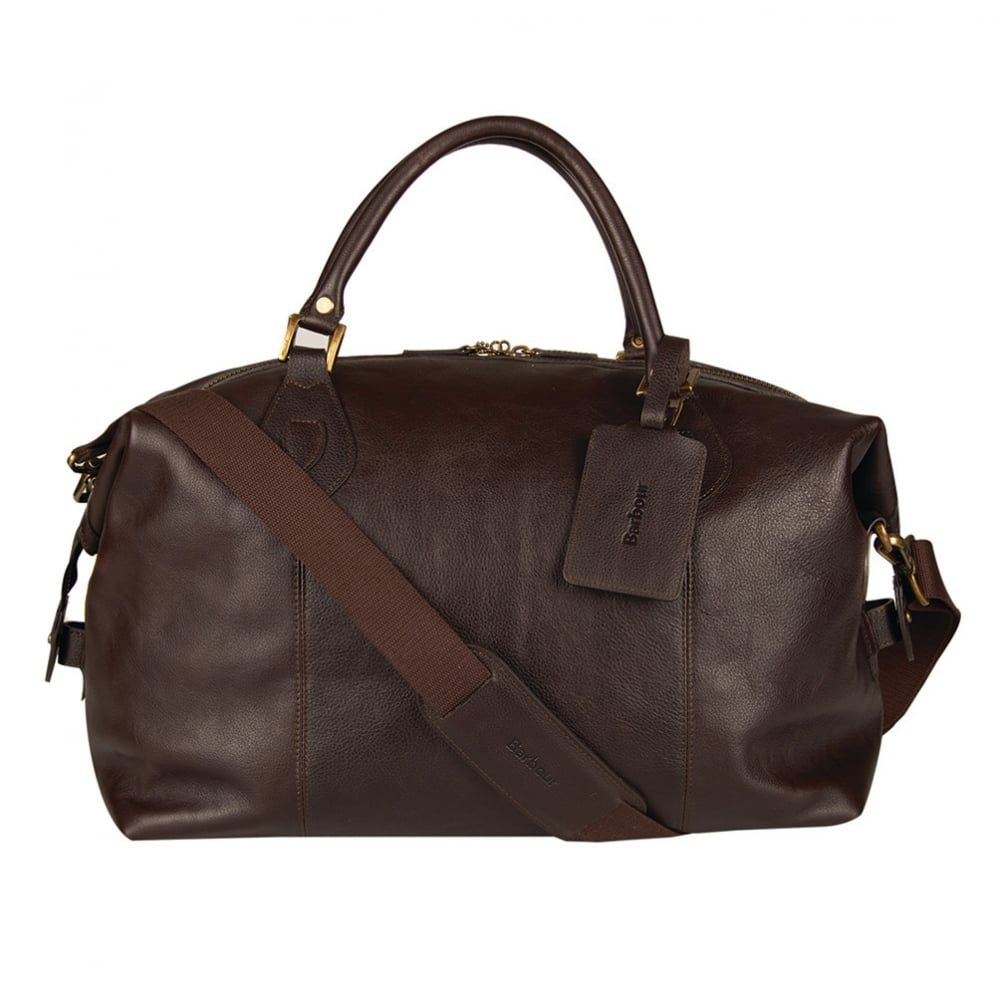 5c86bd758fc Leather Medium Travel Explorer Bag - Chocolate Brown