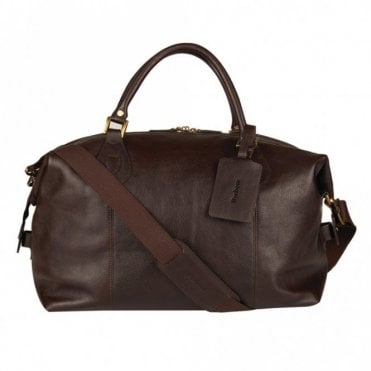 Leather Medium Travel Explorer Bag - Chocolate Brown