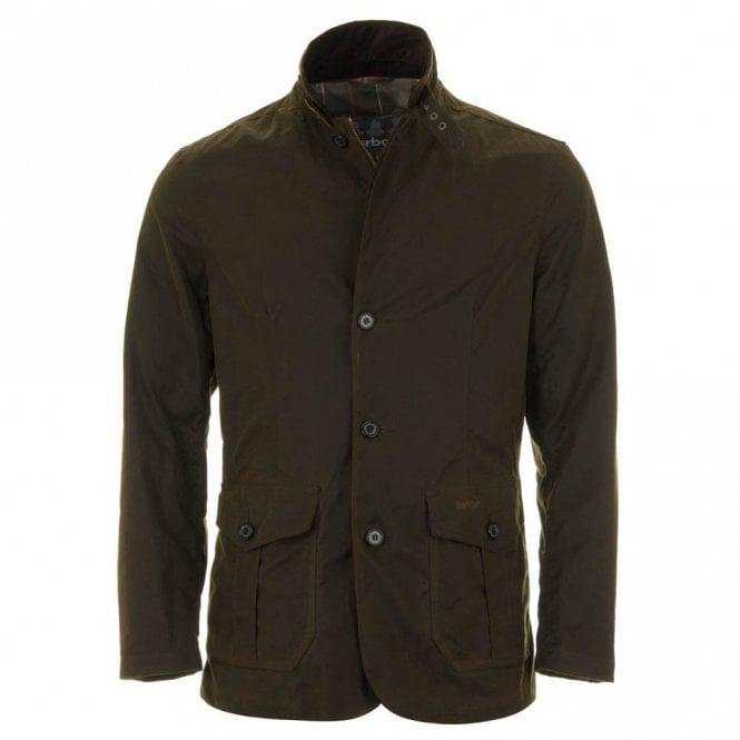 Barbour Lutz Wax Jacket - Olive Green