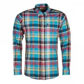 Madras 2 Tailored Fit Shirt - Aqua